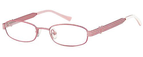 Pink-Modern Oval T 18 Frame-Prescription Glasses-Eyeglass Factory Outlet