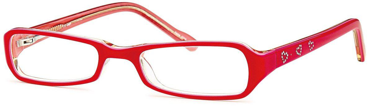 Pink-Modern Rectangular T 17 Frame-Prescription Glasses-Eyeglass Factory Outlet