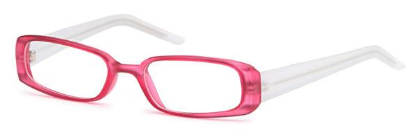Pink-Modern Rectangular T 2 Frame-Prescription Glasses-Eyeglass Factory Outlet