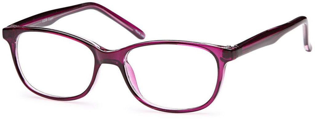 Purple-Classic Oval U 208 Frame-Prescription Glasses-Eyeglass Factory Outlet