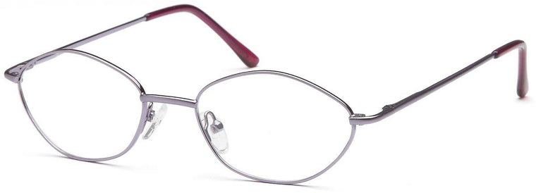 Purple-Modern Oval PT 7724 Frame-Prescription Glasses-Eyeglass Factory Outlet