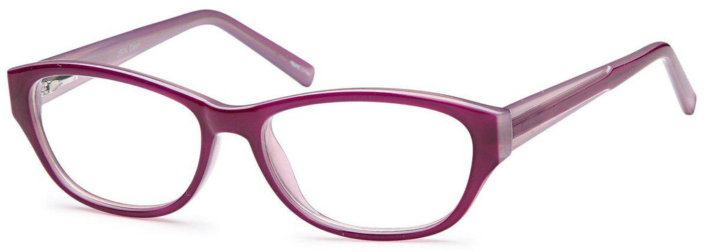 Purple-Modern Oval US 74 Frame-Prescription Glasses-Eyeglass Factory Outlet