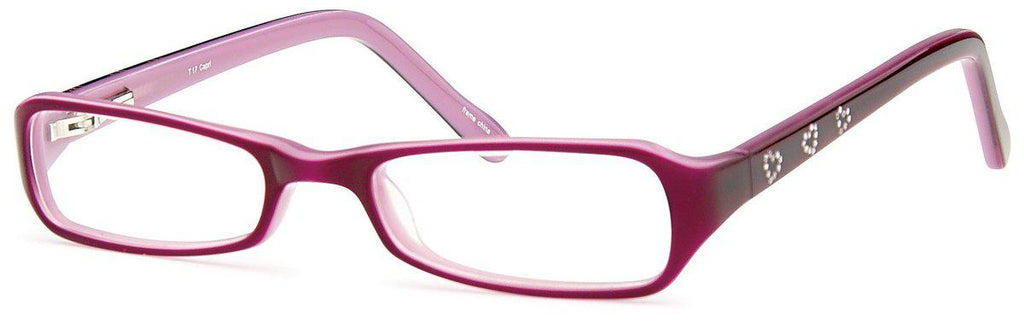 Purple-Modern Rectangular T 17 Frame-Prescription Glasses-Eyeglass Factory Outlet
