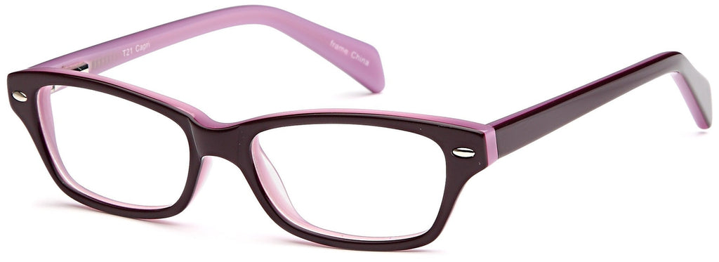 Purple-Modern Wayfarer T 21 Frame-Prescription Glasses-Eyeglass Factory Outlet