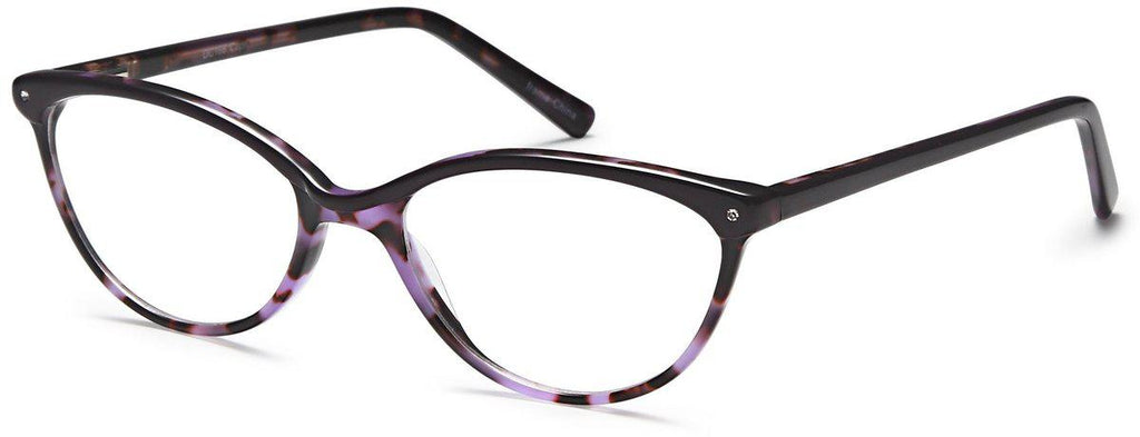 Purple-Trendy Cat Eye DC 166 Frame-Prescription Glasses-Eyeglass Factory Outlet