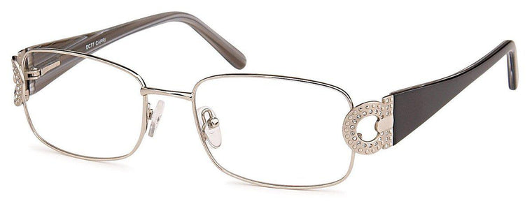 Silver-Classic Rectangular DC 77 Frame-Prescription Glasses-Eyeglass Factory Outlet