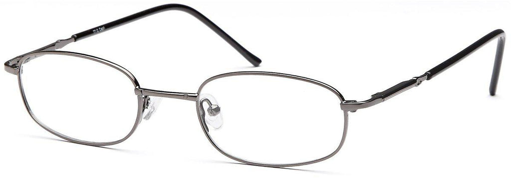 Silver-Classic Rectangular PT 7711 Frame-Prescription Glasses-Eyeglass Factory Outlet
