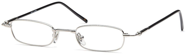 Silver-Classic Rectangular VP 15 Frame-Prescription Glasses-Eyeglass Factory Outlet