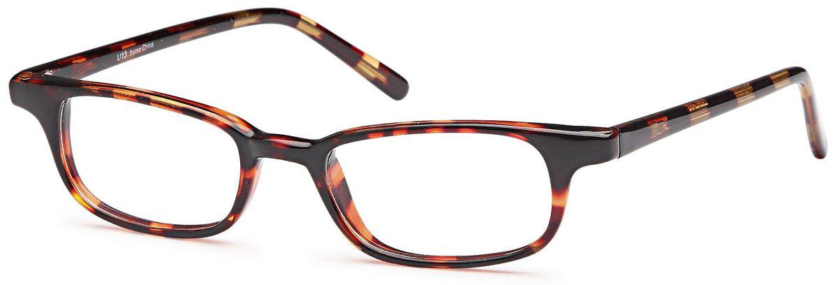Tortoise-Classic Oval U 13 Frame-Prescription Glasses-Eyeglass Factory Outlet