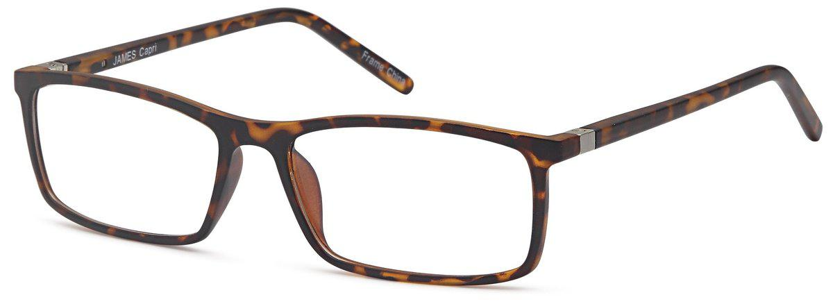 Tortoise-Classic Rectangular James Frame-Prescription Glasses-Eyeglass Factory Outlet