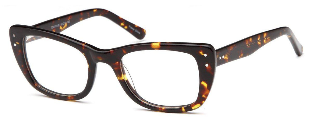 Tortoise-Modern Cat Eye DC 119 Frame-Prescription Glasses-Eyeglass Factory Outlet