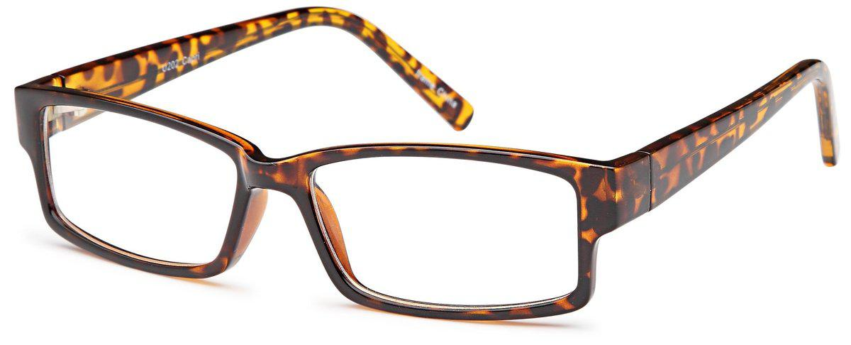 Tortoise-Modern Rectangular U 202 Frame-Prescription Glasses-Eyeglass Factory Outlet