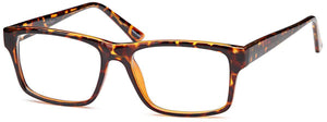 Tortoise-Modern Rectangular US 73 Frame-Prescription Glasses-Eyeglass Factory Outlet