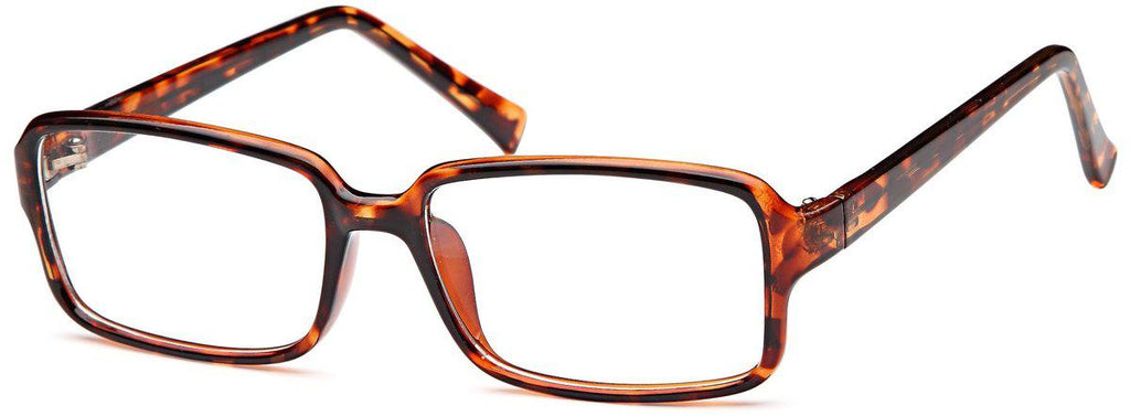 Tortoise-Modern Rectangular US 76 Frame-Prescription Glasses-Eyeglass Factory Outlet