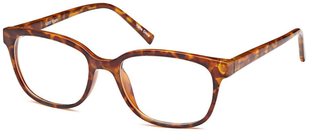 Tortoise-Modern Round U 203 Frame-Prescription Glasses-Eyeglass Factory Outlet