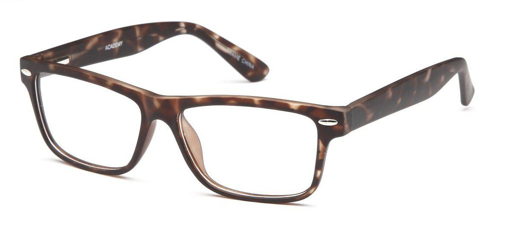 Tortoise-Modern Square Academy Frame-Prescription Glasses-Eyeglass Factory Outlet