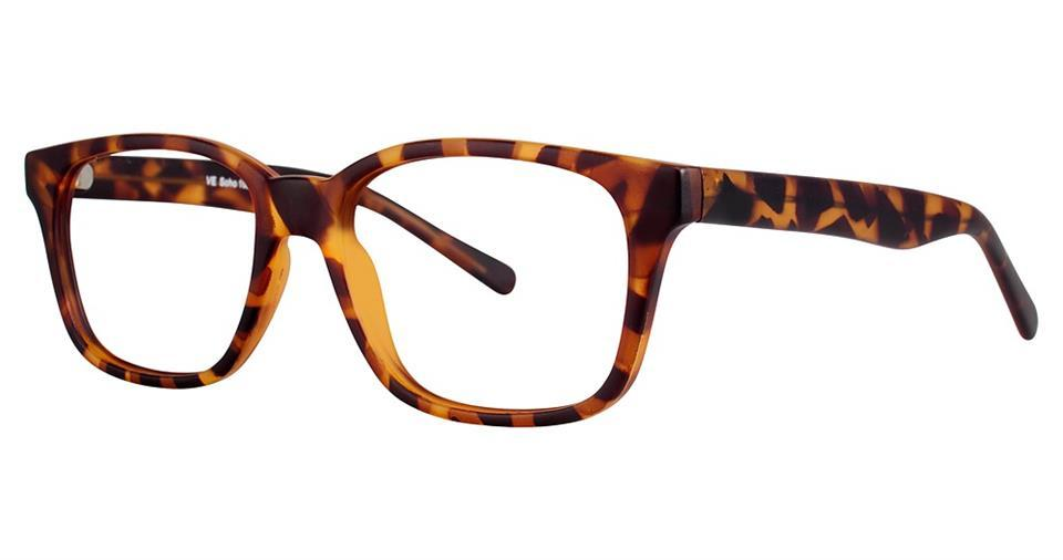 Tortoise-Modern Square Soho 1021 Frame-Prescription Glasses-Eyeglass Factory Outlet