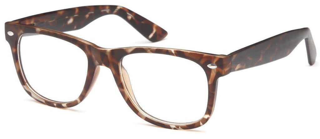 Tortoise-Modern Wayfarer University Frame-Prescription Glasses-Eyeglass Factory Outlet