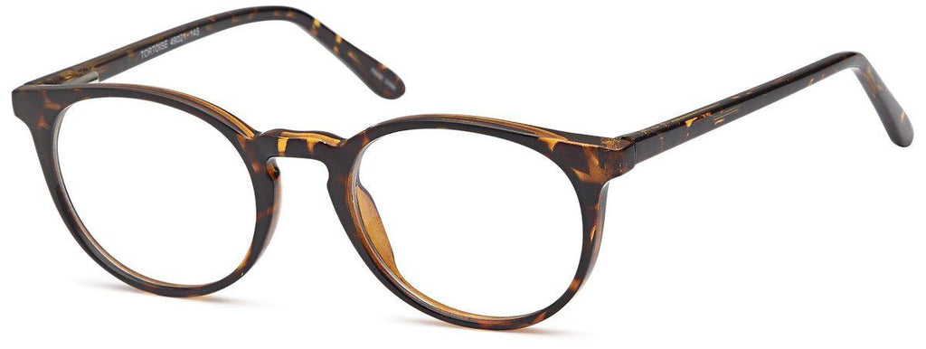 Tortoise-Retro Oval US 82 Frame-Prescription Glasses-Eyeglass Factory Outlet