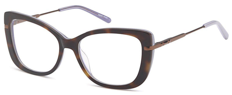 Black-Trendy Cat Eye DC 162 Frame-Prescription Glasses-Eyeglass Factory Outlet