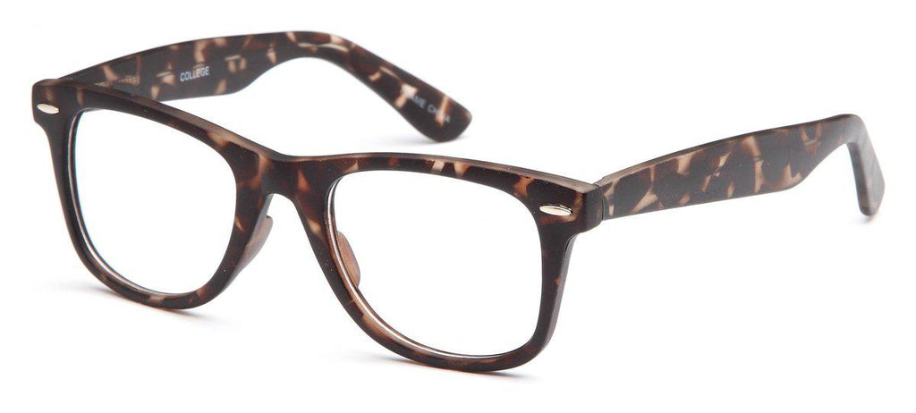 Tortoise-Trendy Wayfarer College Frame-Prescription Glasses-Eyeglass Factory Outlet