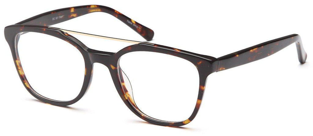 Tortoise-Trendy Wayfarer DC 321 Frame-Prescription Glasses-Eyeglass Factory Outlet