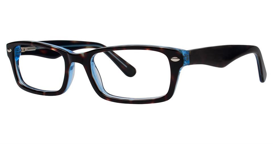 Tortoise/Blue-Modern Rectangular V 800 Frame-Prescription Glasses-Eyeglass Factory Outlet