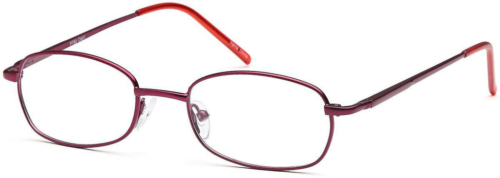 Wine-Modern Oval PT 80 Frame-Prescription Glasses-Eyeglass Factory Outlet