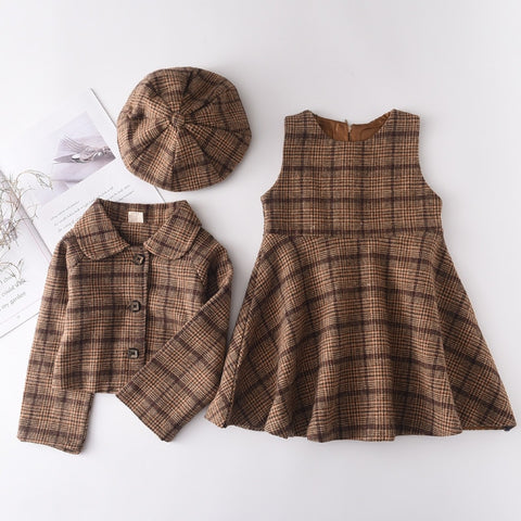 Coat and skirt Clothing Set Fall Outfit
