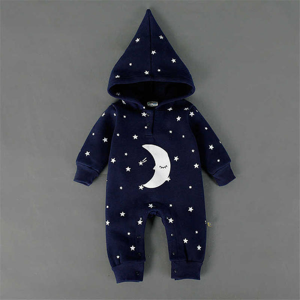 Moon and Star Hooded Jumpsuit