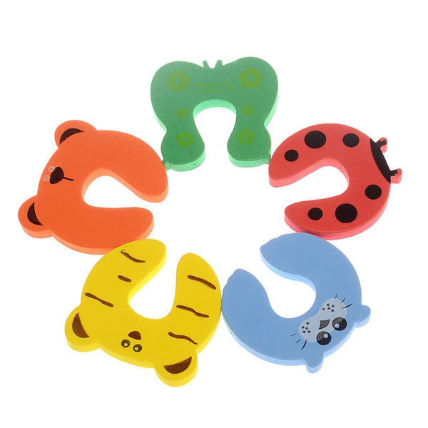 5Pcs/Lot Protection Baby Safety Cute Animal Security Card Door Stopper Baby Newborn Care Child Lock Protection From Children