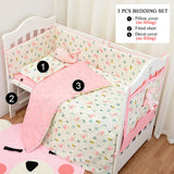 3pcs/set  Crib Sets(Duvet Cover+ Pillowcase+Flatsheet)