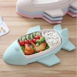 Airplane shape bamboo dinner plate