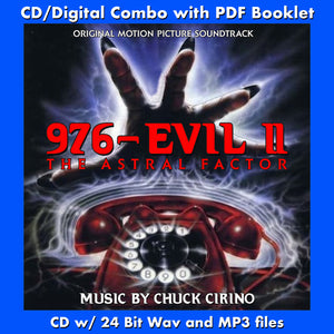 976-EVIL 2: THE ASTRAL FACTOR - Original Soundtrack by Chuck Cirino (W/Free Digital Download/Digital booklet)