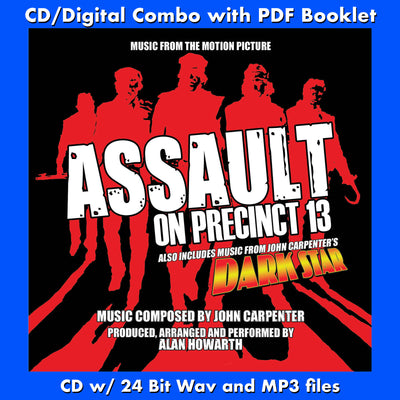 ASSAULT ON PRECINCT 13 / DARK STAR - Music from the John Carpenter Scores (CD comes with Free 24/44.1khz/MP3/Digital booklet exclusive bundle)