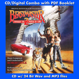 BEASTMASTER 2-Original Soundtrack by Robert Folk (CD comes with Free Digital Download/Digital booklet)