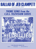 THE BEVERLY HILLBILLIES - THE BALLAD OF JED CLAMPETT - Sheet Music By Paul Henning.