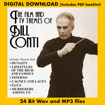THE FILM AND TV THEMES OF BILL CONTI - Performed by Various Artists (Digital Download, 24 Bit Wav, MP3, Digital PDF