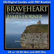 BRAVEHEART: FILM MUSIC OF JAMES HORNER FOR SOLO PIANO (CD comes W/Free Digital Download/Digital booklet)