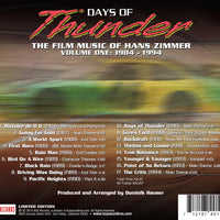 DAYS OF THUNDER: THE FILM MUSIC OF HANS ZIMMER - VOL.1 (W/Free Digital Download/Digital booklet)