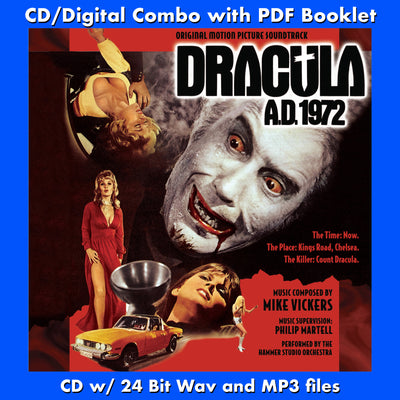 DRACULA A.D. 1972 - Original Soundtrack (CD comes with Free Digital Download/Digital booklet)