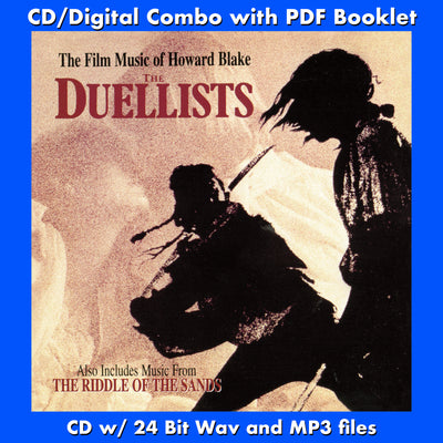THE DUELLISTS / THE RIDDLE OF THE SANDS: THE FILM MUSIC OF HOWARD BLAKE - Original Soundtracks (CD includes Digital Download - 24 Bit Wavs, MP3, Digital PDF)