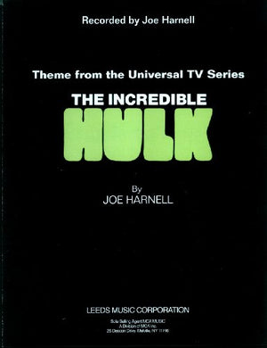 "THE INCREDIBLE HULK - ""The Lonely Man Theme"" Sheet Music for Piano (W/ Digital Download)"
