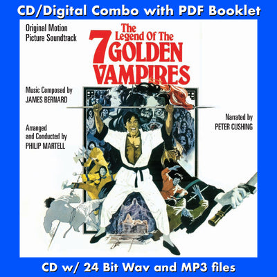 THE LEGEND OF THE 7 GOLDEN VAMPIRES-Original Soundtrack (CD comes W/Free Digital Download/Digital booklet)