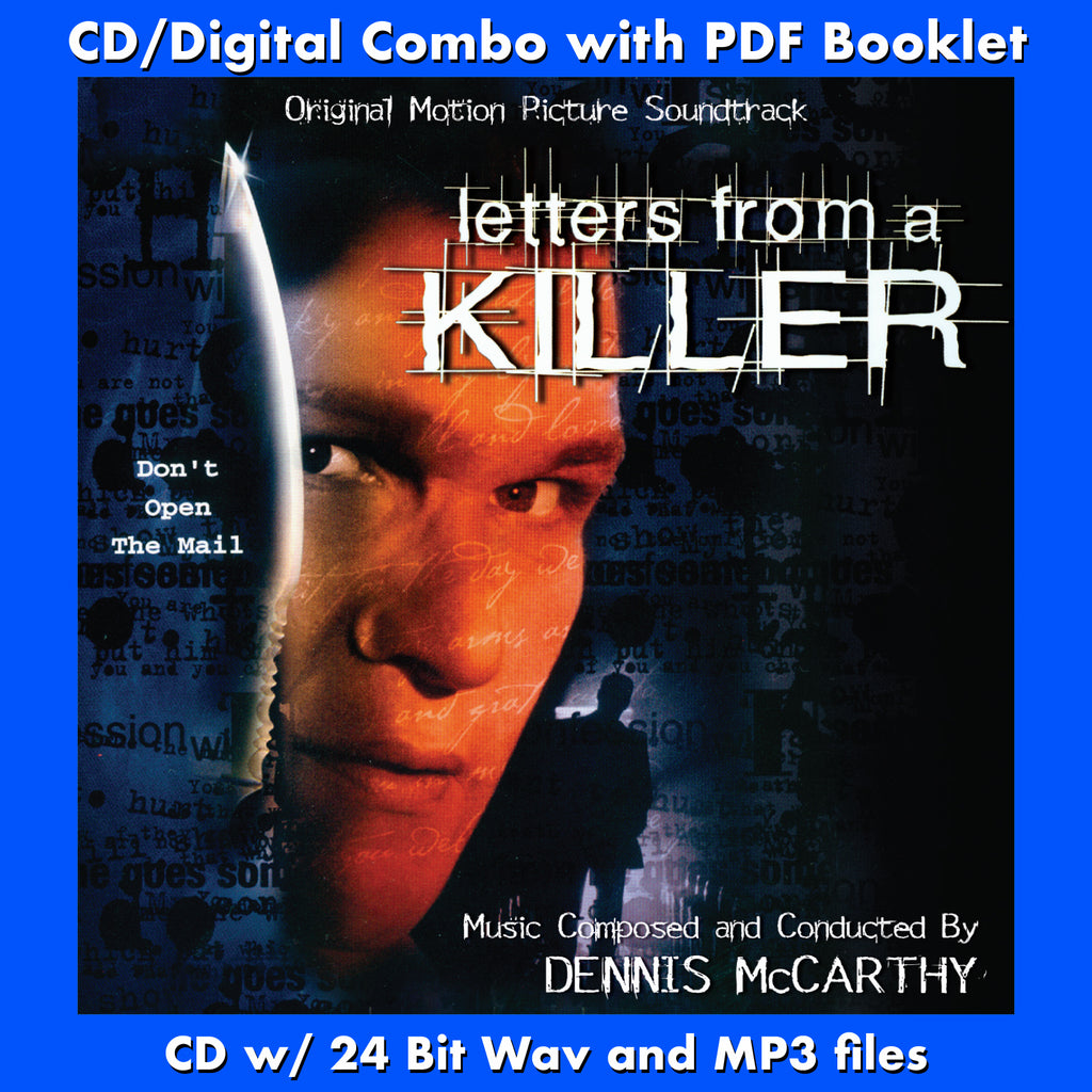 LETTERS FROM A KILLER - Original Soundtrack by Dennis McCarthy (CD comes with Free 24/44.1khz/MP3/Digital booklet exclusive bundle)