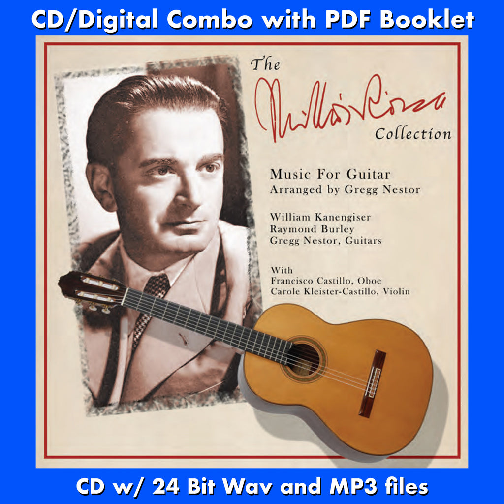 MIKLOS ROZSA COLLECTION, THE - Music For Guitar performed by Gregg Nestor (CD comes with Free 24/44.1khz/MP3/Digital booklet exclusive bundle)