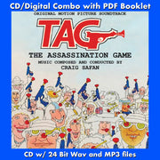 TAG: THE ASSASSINATION GAME - Original Soundtrack by Craig Safan (CD comes with Free 24/44.1khz/MP3/Digital booklet exclusive bundle)