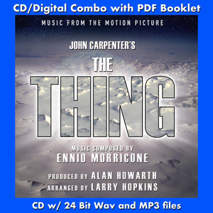 THE THING - Music by Ennio Morricone (CD comes W/Free Digital Download/Digital booklet)