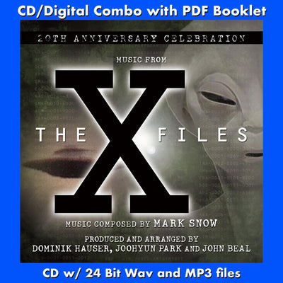 THE X FILES: A 20th ANNIVERSARY CELEBRATION - Music Composed by Mark Snow (CD comes with Free Digital Download/Digital booklet)