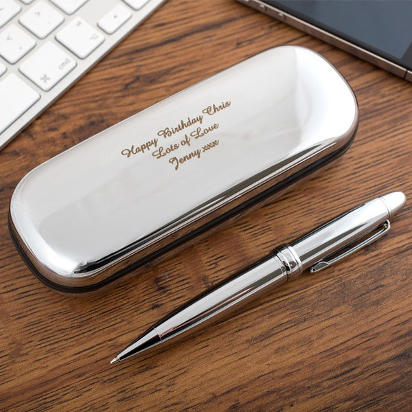 7 unique christmas gift ideas for a boyfriend-engraved-pen-holder-and-pen_BeUnique.co
